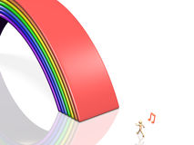 Bridge of rainbow. This is a computer generated image,on white background Stock Image