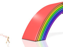 Bridge of rainbow Stock Images