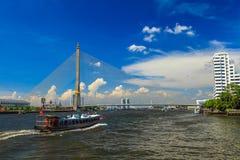 Bridge Rama 8 Royalty Free Stock Photography