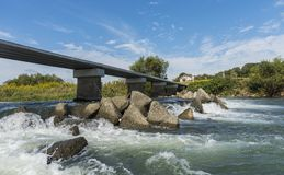 Bridge rapids Katsura River Japan Royalty Free Stock Image