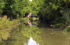 Bridge 16 reflected in the Grand Union Canal Stock Photography