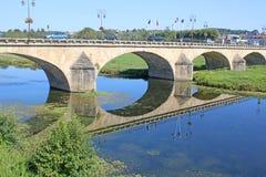 Bridge at Selles sur cher Stock Photo