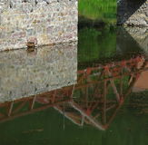 Bridge reflecting Stock Photo