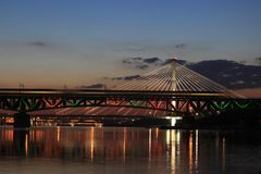 Bridge, Reflection, Sky, Landmark Stock Image