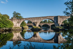 Bridge reflection in Stirling, Scotland highlands. Bridge reflection in Stirling, Scotland Royalty Free Stock Photos