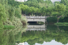 Bridge and reflection Royalty Free Stock Photography