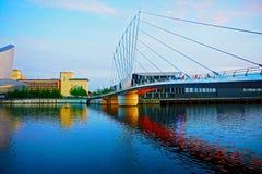 Bridge, Reflection, Waterway, Landmark stock photography
