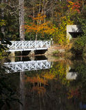 Bridge Reflections. At Carl Sandburg home in Flat Rock, North Carolina Royalty Free Stock Image