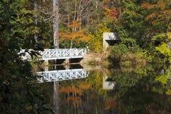 Bridge Reflections. At Carl Sandburg home in Flat Rock, North Carolina Royalty Free Stock Photos