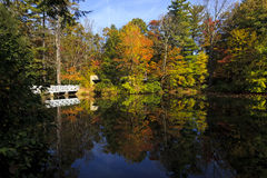 Bridge Reflections. At Carl Sandburg home in Flat Rock, North Carolina Royalty Free Stock Images