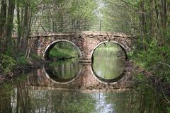 Bridge and reflex Stock Images