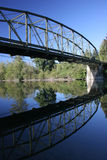 Bridge Reflexion. Bridge reflection the river calm water in the suburbs of Seattle Stock Photo