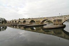 Bridge in Regensburg - HDRI image Stock Images