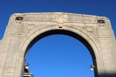 Bridge of Remembrance, Christchurch, New Zealand Stock Photography