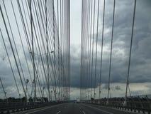 Bridge. Rendzhinski bridge in Poland near Wroslaw.Incredible construction ! Captures Royalty Free Stock Photos