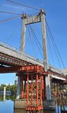 Bridge repair and construction site Royalty Free Stock Images