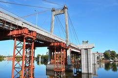Bridge repair and construction site Stock Image