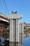 Bridge repair and construction site Stock Images