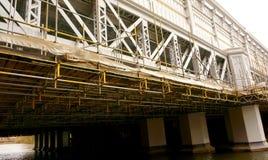 Bridge repair scaffolding A Stock Image