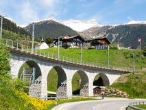 Bridge of the Rhaetian Railway Stock Photos