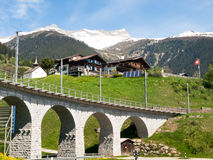 Bridge of the Rhaetian Railway Stock Photos
