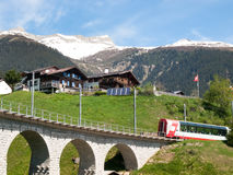Bridge of the Rhaetian Railway Stock Photography