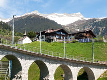 Bridge of the Rhaetian Railway Stock Image