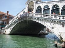 Bridge Rialto in Venice Stock Image