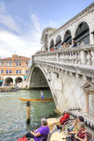 Bridge of Rialto. Venice. HDR Royalty Free Stock Photos