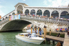 Bridge of Rialto. Venice. Royalty Free Stock Images
