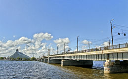 Bridge in Riga. Royalty Free Stock Photography