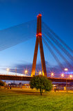 Bridge in Riga at night Stock Image