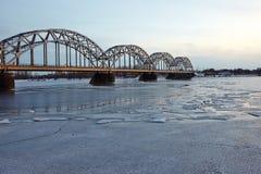 Bridge in Riga Stock Images