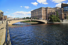 Bridge Riksbron, Stockholm Royalty Free Stock Image