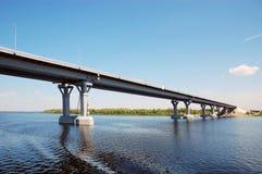 Bridge through the river Royalty Free Stock Photo