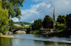 Bridge on the River Avon in Bath Royalty Free Stock Image