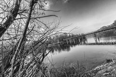 Bridge on a River Stock Image