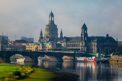 The  bridge on river of city Dresden, Germany Royalty Free Stock Images