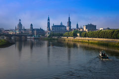 The  bridge on river of city Dresden, Germany Royalty Free Stock Photo