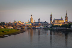 The  bridge on river of city Dresden, Germany Stock Photography