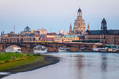 The  bridge on river of city Dresden, Germany Royalty Free Stock Image