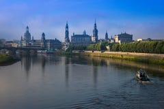The  bridge on river of city Dresden, Germany Stock Photo