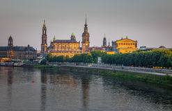 The  bridge on river of city Dresden, Germany Royalty Free Stock Photos