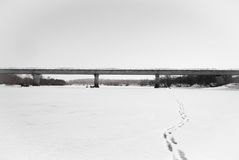 Bridge on the river Royalty Free Stock Photos