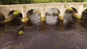 Bridge at River Crana at Buncrana Castle O'Doherty's Keep Co Donegal Ireland