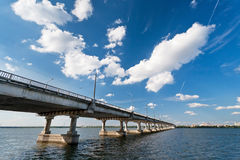 Bridge on the River Dnieper Royalty Free Stock Photography