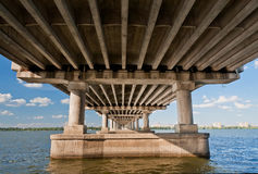 Bridge on the River Dnieper Royalty Free Stock Photo