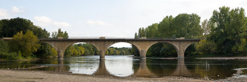 Bridge river Dordogne Limeuil Royalty Free Stock Image