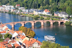 A bridge on a river: Heidelberg Royalty Free Stock Photos