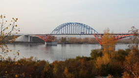 Bridge on the  River. stock video